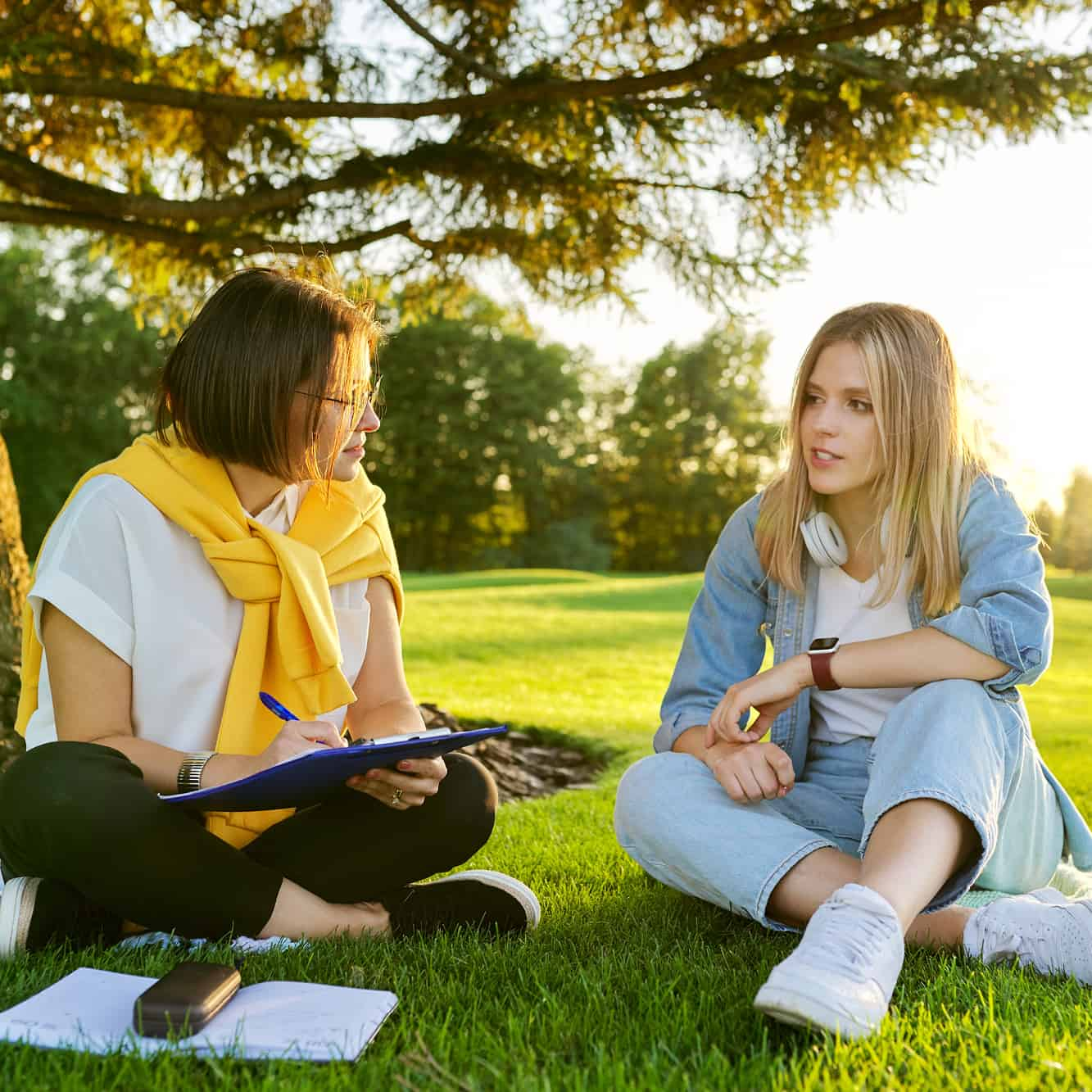Innate Therapies Australia - Ladies talking in a park